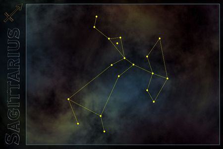 Zodiac constellation - Sagittarius Stock Photo