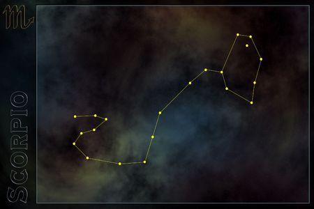 astra: Zodiac constellation - Scorpion Stock Photo