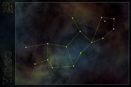Zodiac constellation - Virgo Stock Photo - 512169