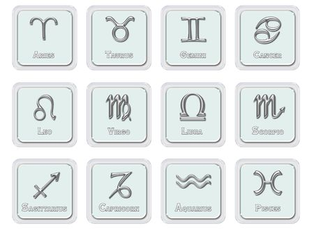 Zodiac signs - icons photo