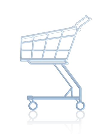 empty shopping cart: Empty shopping cart. Isolated