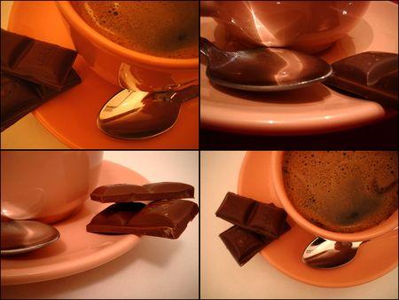 ceramicist: Coffee collage Stock Photo