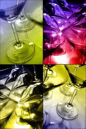 Martini collage Stock Photo