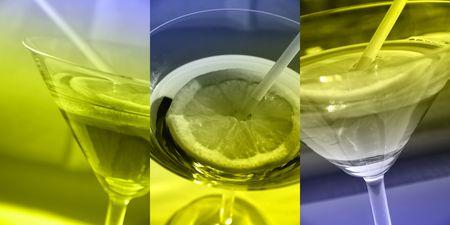 solemnize: Martini collage Stock Photo