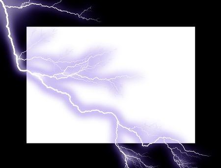 Lightning frame photo