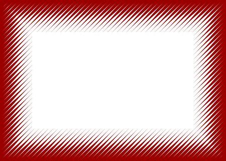 sidelong: Halftone lines frame, sidelong