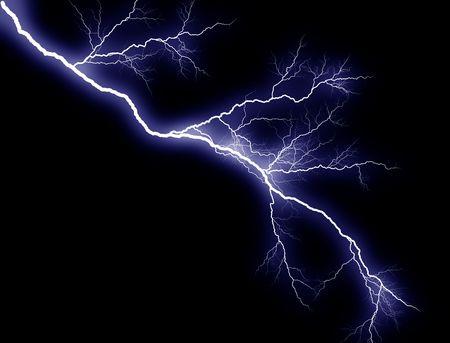 sidelong: Blue Lightning, sidelong Stock Photo