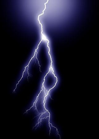 centered: Blue Lightning, vertical from above, centered