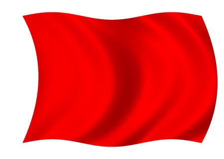 Red blank flag