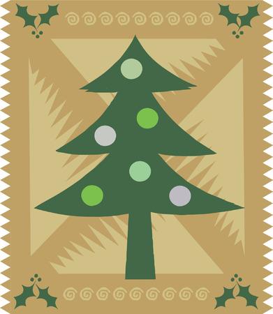 Stylized Christmas card (vector) Vector