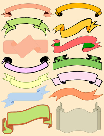 Various forms banners collection Illustration