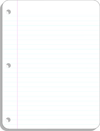 Vector blank lined notebook background