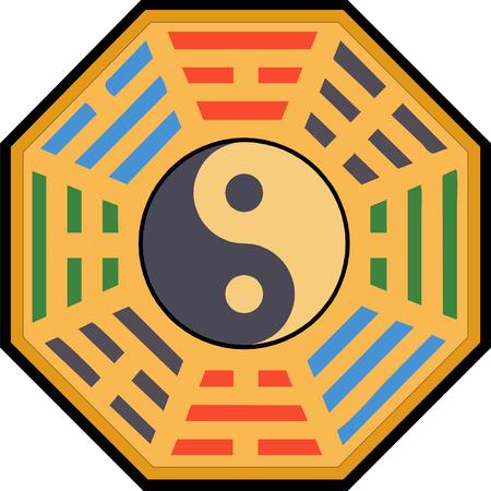 shui: Vettore di Yin e Yang illustrazione Bagua