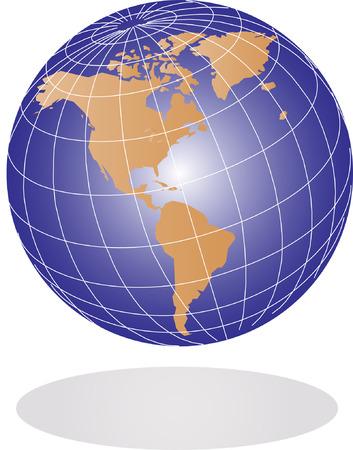 Vector Earth globe illustration Stock Vector - 3099320