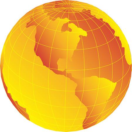 Vector Earth globe illustration Stock Vector - 3099316