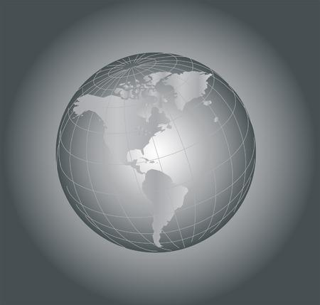 Vector Earth globe illustration Stock Vector - 3099319