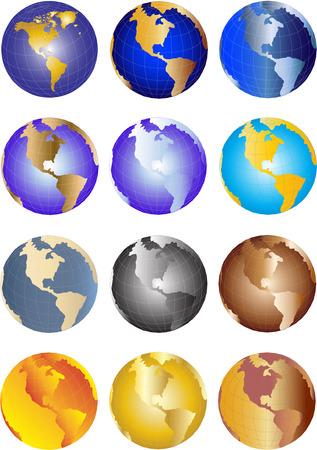 globe illustration: Vector Earth globe illustration