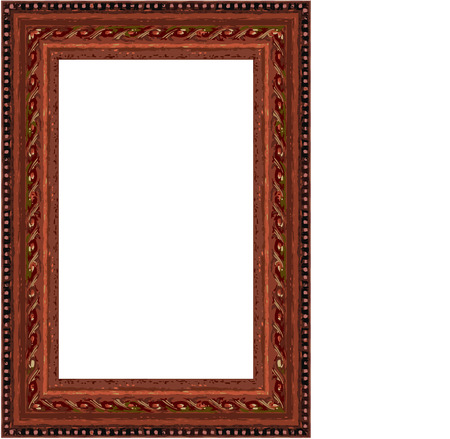 Vector old, vintage style, wooden frame illustration Stock Vector - 3099329