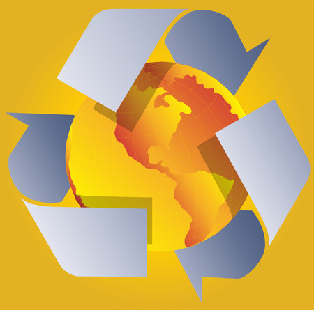 usage: Vector recycle concept illustration Illustration