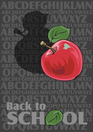 Vector Back to School background with alphabet Vector