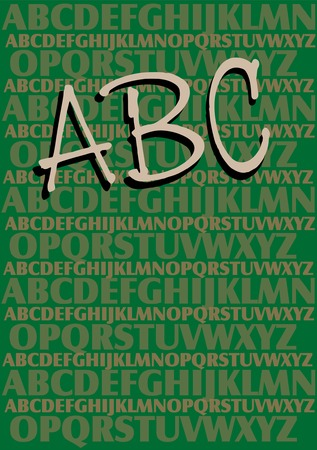 Vector alphabet background, school and educational theme Vector