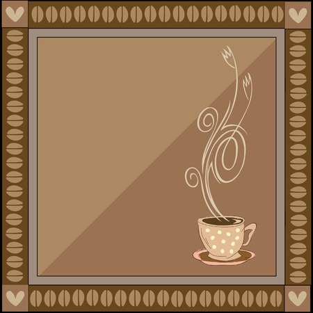Vector coffee stylized, artistic illustration Vector