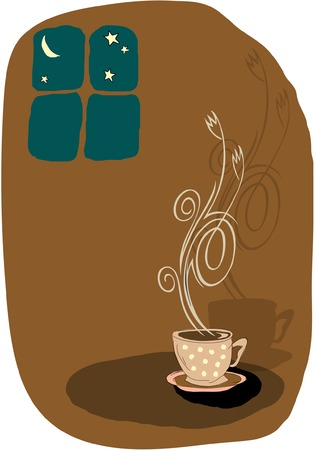 Vector lovely coffee related illustration Stock Vector - 5085069