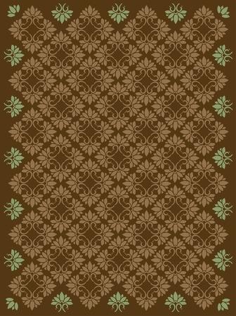 Seamless vector ornamental damask pattern Vector
