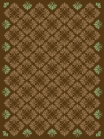 Seamless vector ornamental damask pattern