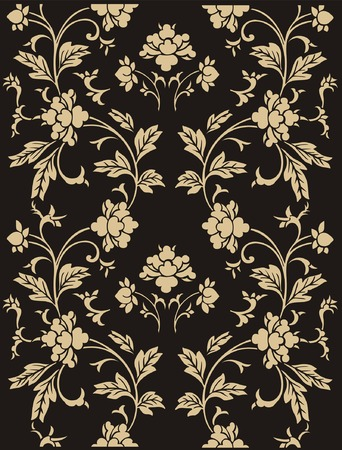 Seamless vector ornamental floral pattern