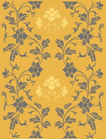 Seamless vector ornamental floral pattern Vector
