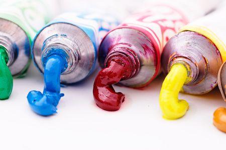 paint tubes Stock Photo