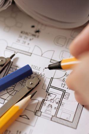 drawing a floorplan photo
