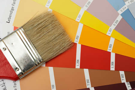 craftman: paint brush on color chart