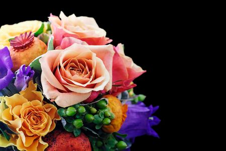 Bouquet on black