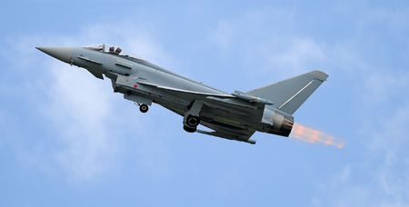 fighter take off with afterburner photo