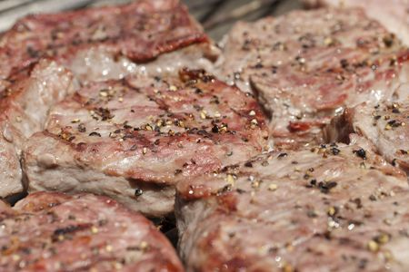 BBQ Steaks close up