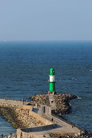 lighthouse, baltic sea, zoom view from above