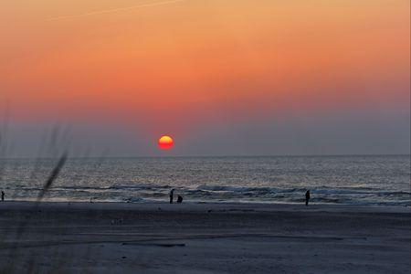 sunset on beach, baltic sea Stock Photo - 4688306