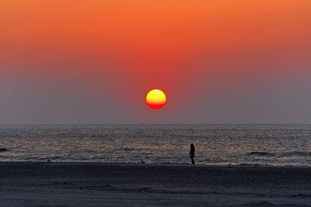 sunset on beach, baltic sea Stock Photo - 4691498