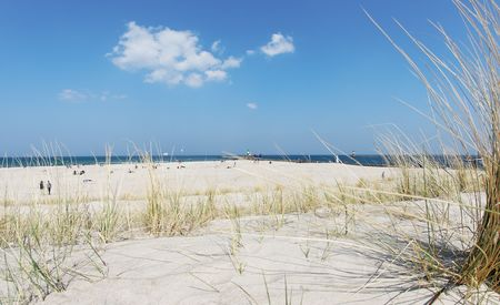 wide angle view of a beach, baltic sea Stock Photo - 4713230