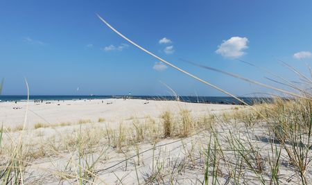 wide angle view of a beach, baltic sea