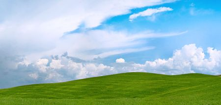 tuscany green field landscape