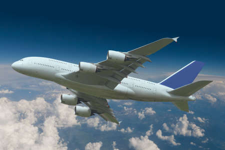 airliner: Aircraft over the clouds
