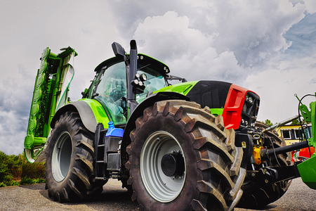 large farming tractor and tires, latest model