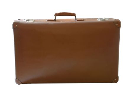An suitcase isolated on a white background Stock Photo
