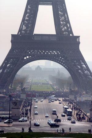 Eiffel tower, lower part