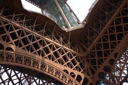 Eiffel Tower, photo taken from beneath