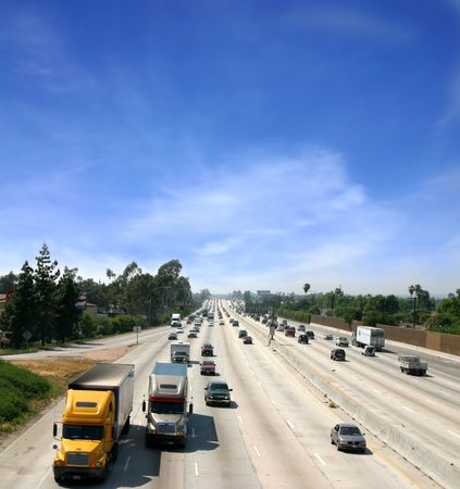 Highway in California Stock Photo