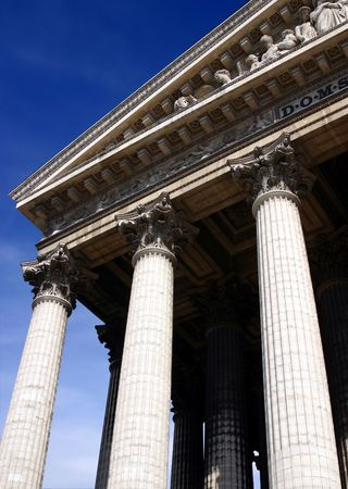 Pillars of a church in Paris